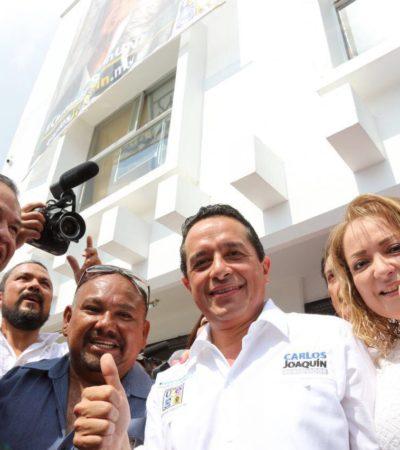 """""""HOY VIVIMOS UN AUTORITARISMO"""": Quintana Roo quiere un cambio, quiere alternancia, dice Carlos Joaquín en su primer día de campaña"""