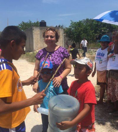 Alicia Ricalde Magaña se compromete a mejorar el servicio de salud para los isleños ; le piden auditar el 'Skate Park'