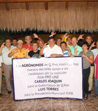 Se suman agrónomos al proyecto de Carlos Joaquín y de Luis Torres en Chetumal