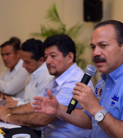 """""""LA RECAUDACIÓN VORAZ SE TERMINARÁ"""": Dice Julián Ricalde a empresarios que quitará obstáculos creados por Paul para la apertura de negocios en Cancún"""