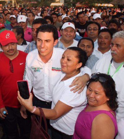 Inicia Remberto con la presentación de su planilla y acto masivo en la Región 221 de Cancún