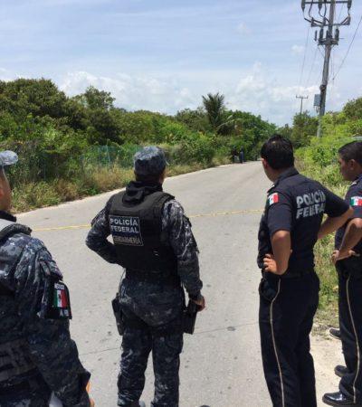 APARECE OTRO EJECUTADO EN CANCÚN: Encintado y con el tiro de gracia, encuentran cuerpo de un joven a un costado de la carretera a Punta Sam