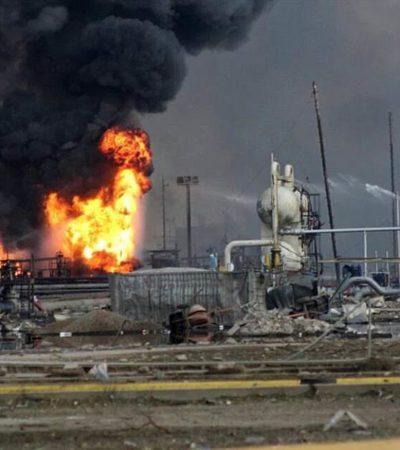 AUMENTAN LOS MUERTOS EN EL COMPLEJO PAJARITOS: Suman 13 fallecidos, 136 heridos y 18 desaparecidos por explosión en planta de Pemex en Veracruz