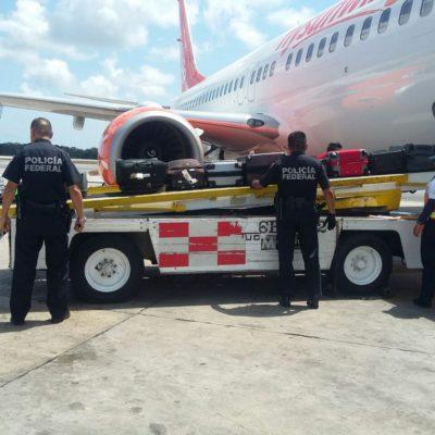 INCAUTAN 15 KILOS DE COCAÍNA EN AVIÓN RUMBO A EUROPA: Hallan la droga oculta en baño de aeronave a punto de despegar del aeropuerto de Cancún