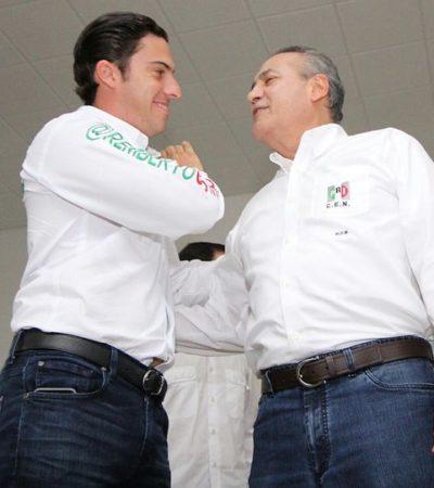 Da el priista Manlio Fabio espaldarazo al verdeecologista Remberto Estrada rumbo a la Alcaldía de Cancún