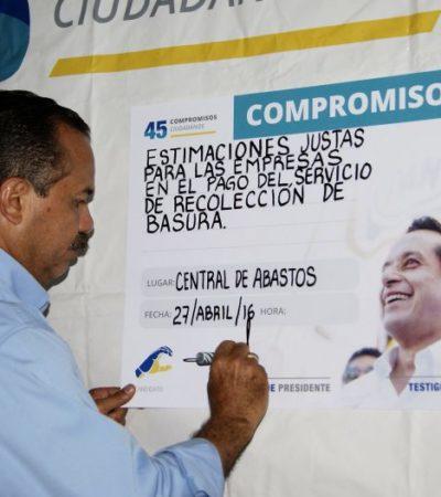 Asegura Julián Ricalde que acabará con la recaudación voraz con tarifas más justas en la recolección de basura en Cancún