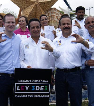 Es Julián Ricalde primer candidato a presidente municipal en presentar la iniciativa ciudadana '3 de 3'