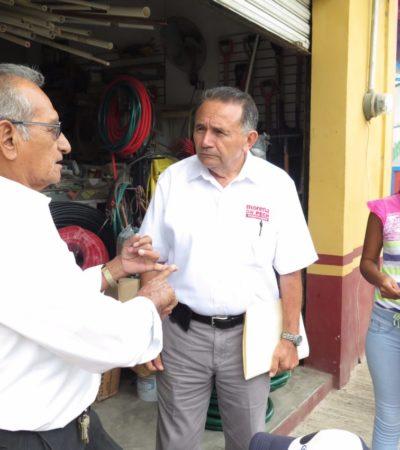 Sigue candidato de Morena con campaña de 'baja intensidad'; visita Javier Rojo Gómez en el sur de QR