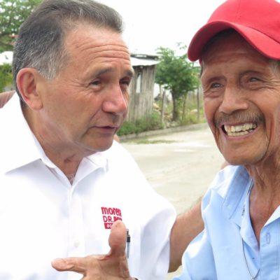 Pech Várguez sigue en comunidades del sur de QR y pide el voto en maya