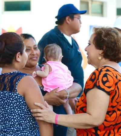 Demandan familias isleñas rescate de  parques infantiles