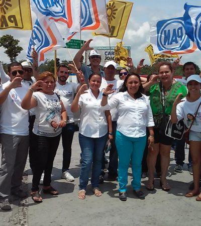 Rechazan ciudadanos a candidato del PRI y le dan su respaldo a Cristina Torres en Solidaridad; asegura que no habrá despidos en la comuna