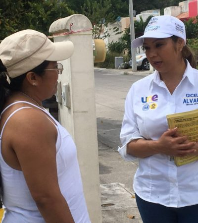 Candidata por el Distrito III visita los fraccionamientos La Selva y Villas del Mar II en Cancún