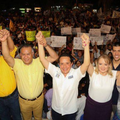 """""""¡Estamos listos para ganar! ¡Tenemos qué corregir el rumbo de Quintana Roo!"""", dice Carlos Joaquín"""