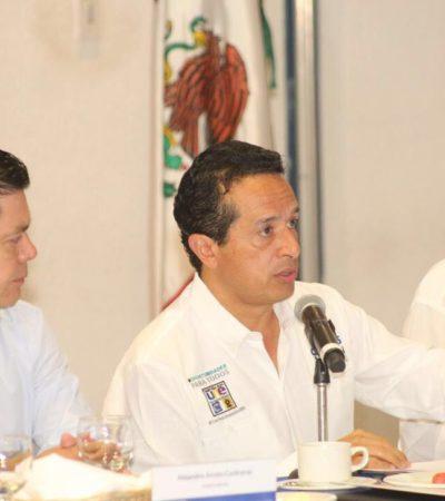 En reunión con empresarios, Carlos Joaquín hace propuestas para que haya más empleos y mejor pagados
