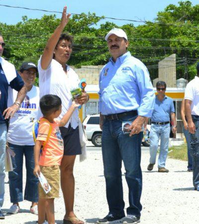 Dice Julián Ricalde que rescatará espacios públicos y de convivencia abandonados por el PRI en Cancún