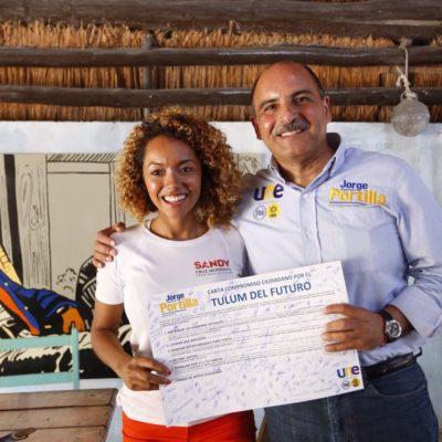 Dice Jorge Portilla que trabajará por los tulumenses y por sus familias