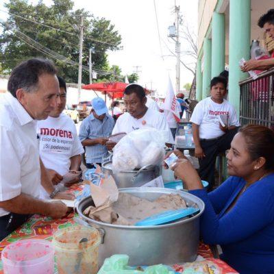 Va Pech Várguez a la zona maya de JMM y pide un voto de confianza