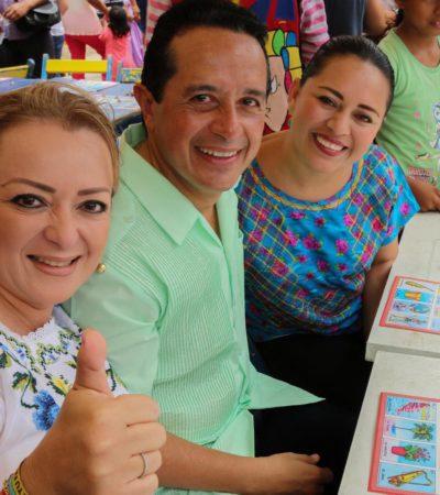Ningún niño sin escuela ni medicinas en Quintana Roo: Carlos Joaquín