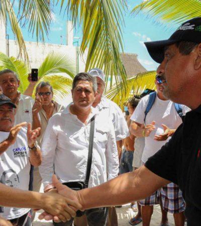 """""""TENEMOS QUE CORREGIR EL RUMBO"""": Visita Carlos Joaquín Isla Mujeres y dice que tiene la experiencia """"para evitar el colapso financiero"""""""