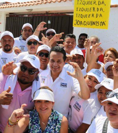 Financiamiento para los jóvenes, sus propias empresas y becas para concluir estudios, propone Carlos Joaquín