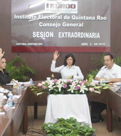 """DA IEQROO EL 'SILBATAZO' INICIAL: Aprueban registros de candidatos a gubernatura de QR; les piden """"transparencia, responsabilidad y legalidad"""""""