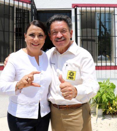 Respalda Navarrete proyecto de alternancia de Carlos Joaquín y candidatos de alianza PRD-PAN; se registra Graciela Saldaña por el distrito 5