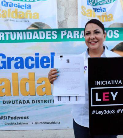 Arranca campaña Graciela Saldaña Fraire firmando la iniciativa 3 de 3; va por la diputación del Distrito V de Cancún