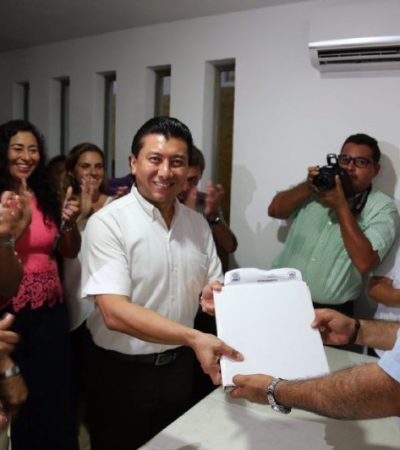 Se registra Jesús Pool como el tercer precandidato del PRD a la presidencia municipal de Benito Juárez