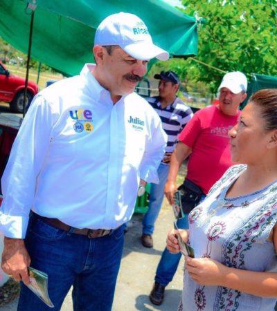Firma Julián Ricalde pacto ciudadano para abatir la violencia en Cancún; recorre candidato tianguis y regiones