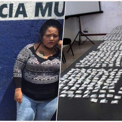 HASTA LAS MANITAS DE DROGA: Detienen a una pareja con 1,200 dosis de 'crack' y cocaína en Cancún