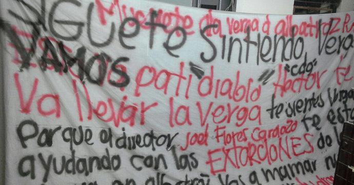 Aparece presunta narcomanta en las inmediaciones de la cárcel de Cancún