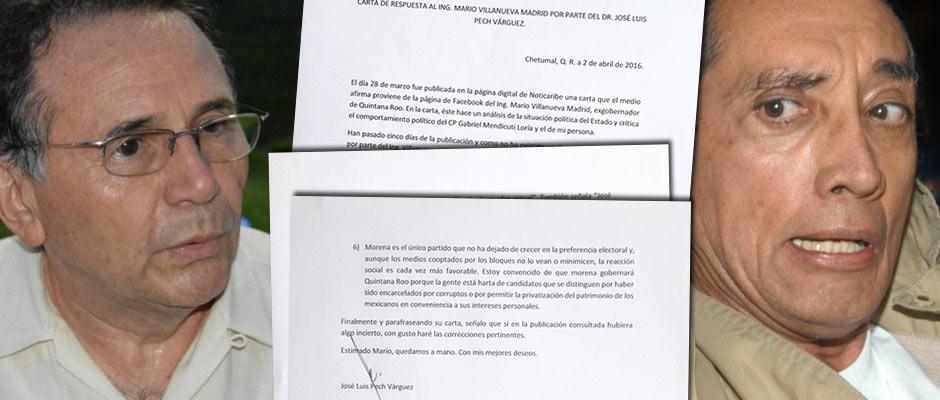 """""""MATAR CON CUCHILLO AJENO"""": Responde José Luis Pech Várguez a crítica de Mario Villanueva Madrid sobre que """"no es ni será auténtica oposición"""""""