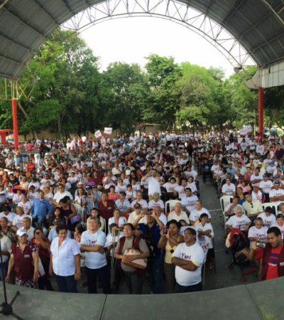 """QUE MAURICIO Y CARLOS SON LO MISMO: AMLO busca rescatar a José Luis Pech porque, dice, """"es el único candidato del pueblo"""""""