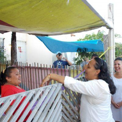 PIDE AYUDA PARA LOGRAR EL CAMBIO: Respaldo total a Cristina Torres en Villas del Sol de Playa del Carmen