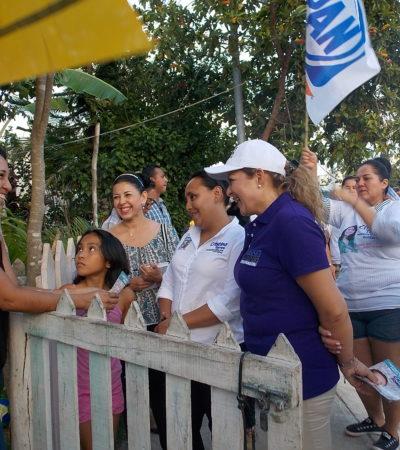 Recorren Cristina Torres y Gabriela Rejón Villas del Sol en Playa del Carmen; el cambio, es el mensaje