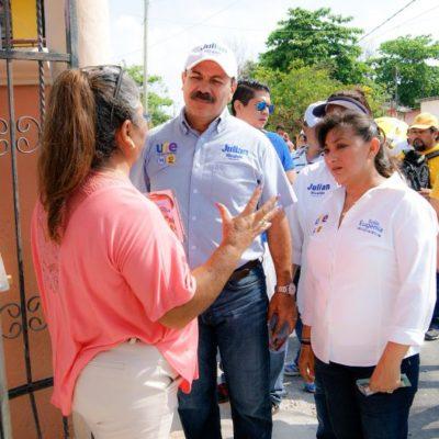 Con apoyo de Carlos Joaquín, dice Julián Ricalde que gestionará servicios públicos para los bonfileños