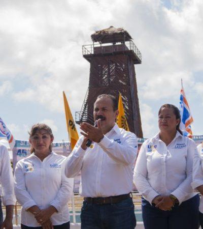 JULIÁN RICALDE DARÁ CAMBIO DE TIMÓN:  Junto a candidatos a diputados, se compromete a rescatar a Cancún de la inseguridad y el mal gobierno