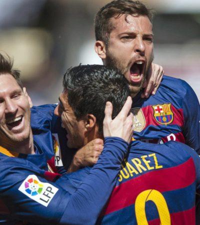 BARCELONA, CAMPEÓN DE ESPAÑA: Con un 'hat-trick' de Luis Suárez ante el Granada, de nada sirvió el triunfo de Ronaldo en el Real Madrid