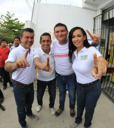 Va Góngora a Puerto Morelos y le da espaldarazo a Laura Fernández para la Alcaldía
