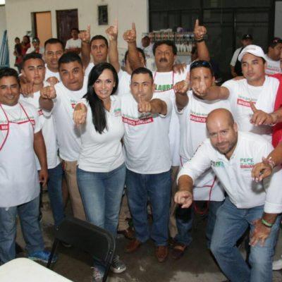 """Asegura Laura Fernández que la gente en Puerto Morelos ya decidió """"por el bienestar de su familia, por la armonía social y por gobiernos transparentes"""""""
