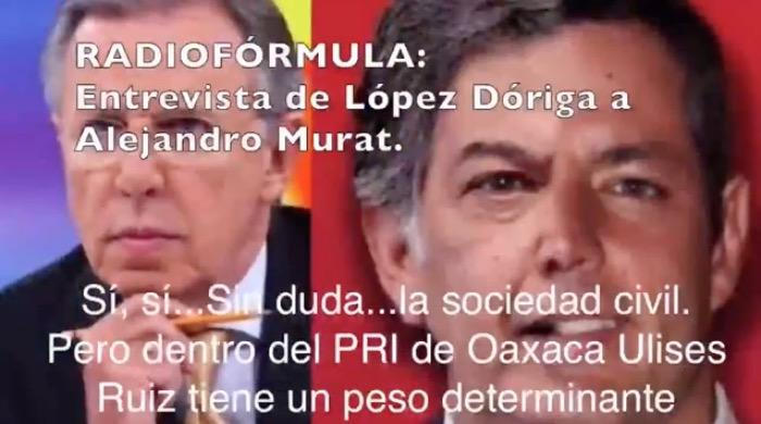 """""""LE VOY A PONER EN LA MADRE"""": Se vuelve viral audio del ex gobernador José Murat hablando pestes de Joaquín López Dóriga"""