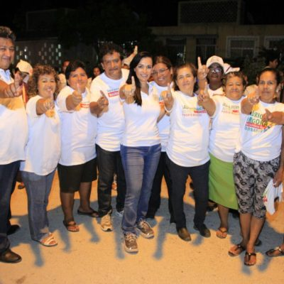 Agradece Laura Fernández espaldarazo de Manlio Fabio para gobernar Puerto Morelos