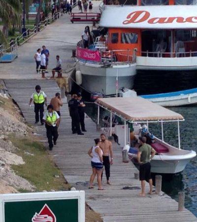 TRAGEDIA EN PLAYA LINDA: Muere mujer propelada en la zona del muelle a la altura del puente Calinda de Cancún