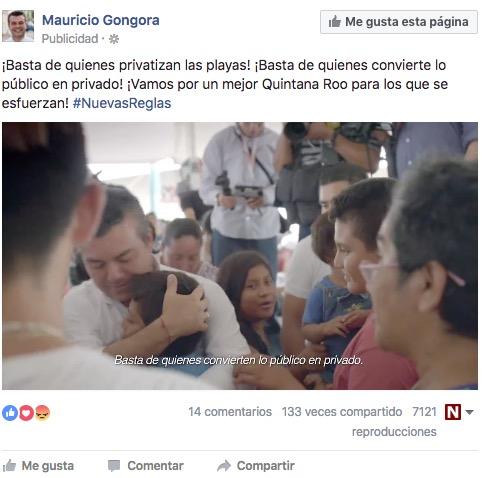 CONVIERTE MAURICIO LO PÚBLICO EN PRIVADO: Exhibe documento implicación del candidato priista en la privatización del agua potable en Solidaridad