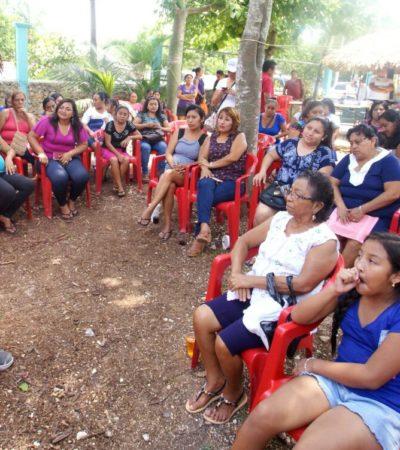 Ofrece Laura Fernández crear en Puerto Morelos el Instituto Municipal de la Mujer más grande de Quintana Roo