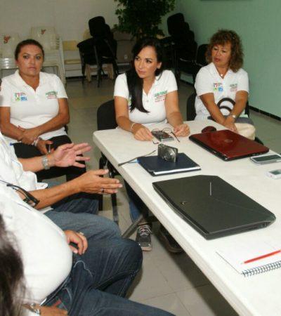 Compromete Laura Fernández su apoyo con el magisterio de Puerto Morelos, dice