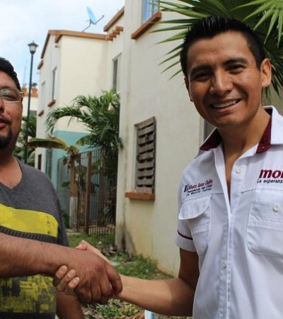 Alberto Batún Chulim, candidato de Morena, busca el voto por el Distrito II de Cancún