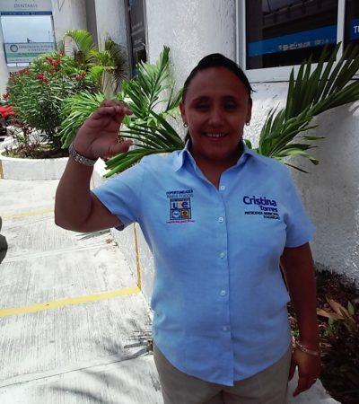 Anuncia Cristina Torres cierre de campaña para este domingo en Playa del Carmen