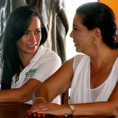 Va Carolina Monroy a Puerto Morelos para darle el espaldarazo a Laura Fernández