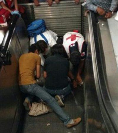 NIÑA ATRAPADA EN ESCALERA ELÉCTRICA EN EL METRO POLANCO: Implementan rescate de emergencia aunque todo quedó en un susto